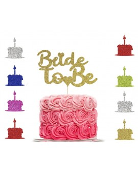 Personalised Glitter Bride To Be Cake Topper Custom Party Decoration
