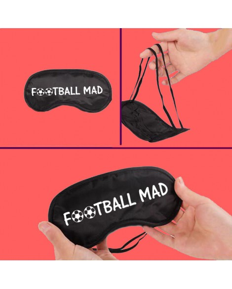 "Personalised Unisex Eye Mask / Sleep Mask for Sleeping ""F⚽⚽TBAAL MAD"""
