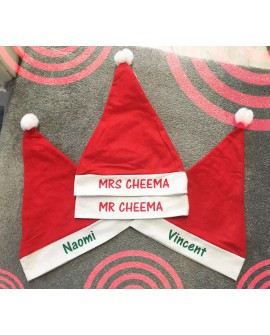 PERSONALISED KIDS SANTA CHRISTMAS Child HAT - Xmas PARTY / FANCY DRESS