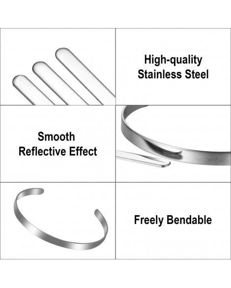 Personalized Stainless Steel DIY Custom Letter Name Bracelet Cuff Bangle Gift