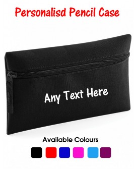 Personalised Pencil Case with ANY TEXT / Name , Perfect Gift for kids