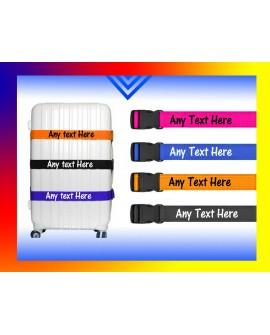 Personalised Luggage Strap, Suitcase Safe Luggage Belt Printed