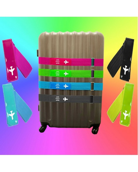 Personalised Luggage Strap, Suitcase Safe Luggage Belt Printed