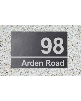 Etched Slate personalised house sign
