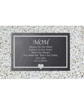 Grave, memorial, slate, memorial plaque, in loving memory, grave marker, personalised.